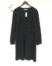 NWT LOFT Black Shift Dress - Plus Size Long Sleeve Polka dot NEW (US $89... - $26.03