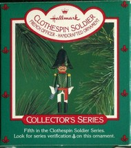 1986 - New in Box - Hallmark Christmas Keepsake Ornament - Clothespin So... - $5.44