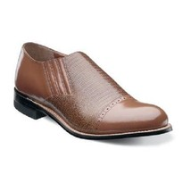 Stacy Adams mens shoes Madison Tan Leather Cap toe Loafer Leather Sole 0... - €105,89 EUR