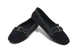 Louis Vuitton Prune/Grey New Suede Bicolor Oxford Ballerina Loafers Flats - $586.04