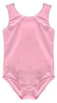 Dancina Pink Leotard Girls Tank Top Cotton and Spandex Unitard Activewea... - $17.34