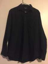 Men's George Small black dress shirt vmh368 - $12.85