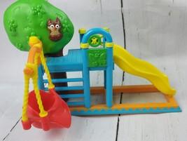 Mattel Dora the  Explorer Dollhouse Treehouse Playground Set Slide Swing - $9.95