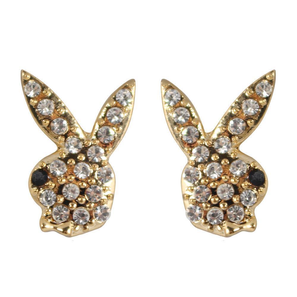 Chic 030 chic gold crystal bunny stud clip on earrings 107565f7 991e 461c 8e18 ecbd8ae4c1d8