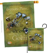 Plan To Golf - Impressions Decorative Flags Set S109061-BO - $57.97