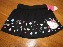 Girls Hello Kitty Summer Fun HK56339 blk skort 4 NWT^^ - $8.35