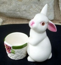 Bunny Bright Rabbit Votive Candle Holder Candleholder 1980 Avon - $9.99