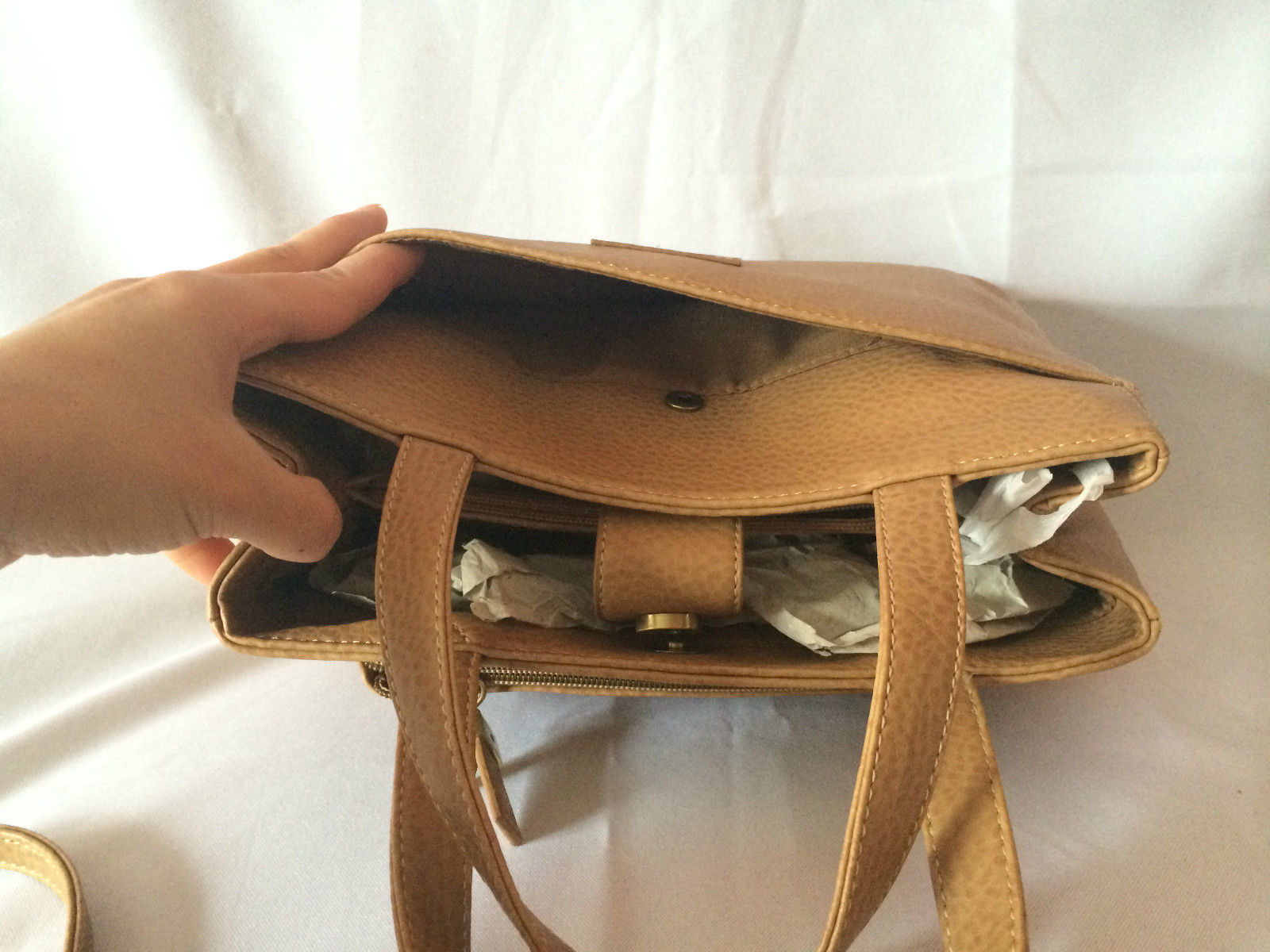 RELIC Brand Quality Brown Leather Bag with and 31 similar items c7b51297a22b6
