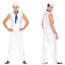 Halloween Men's White Sailor Suit Cosplay Costume - $33.26