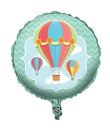 """Up, Up & Away Hot Air Baby Shower Birthday Party Decoration 18"""" Mylar Ba... - $8.17"""