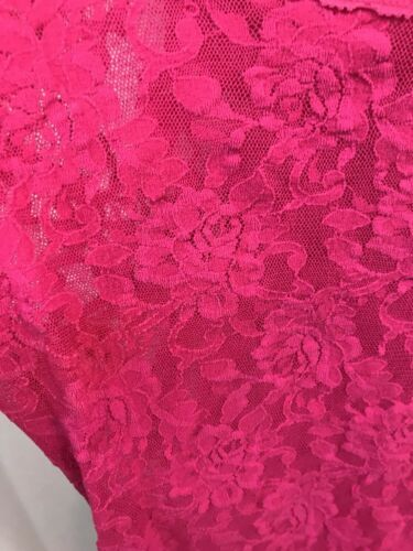 Hanky Panky 1390L Signature Unlined Lace Camisole, Fuschia Pink, Ladies S