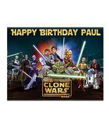 Star Wars Clone Wars Edible Cake Image Cake Topper - $8.98+