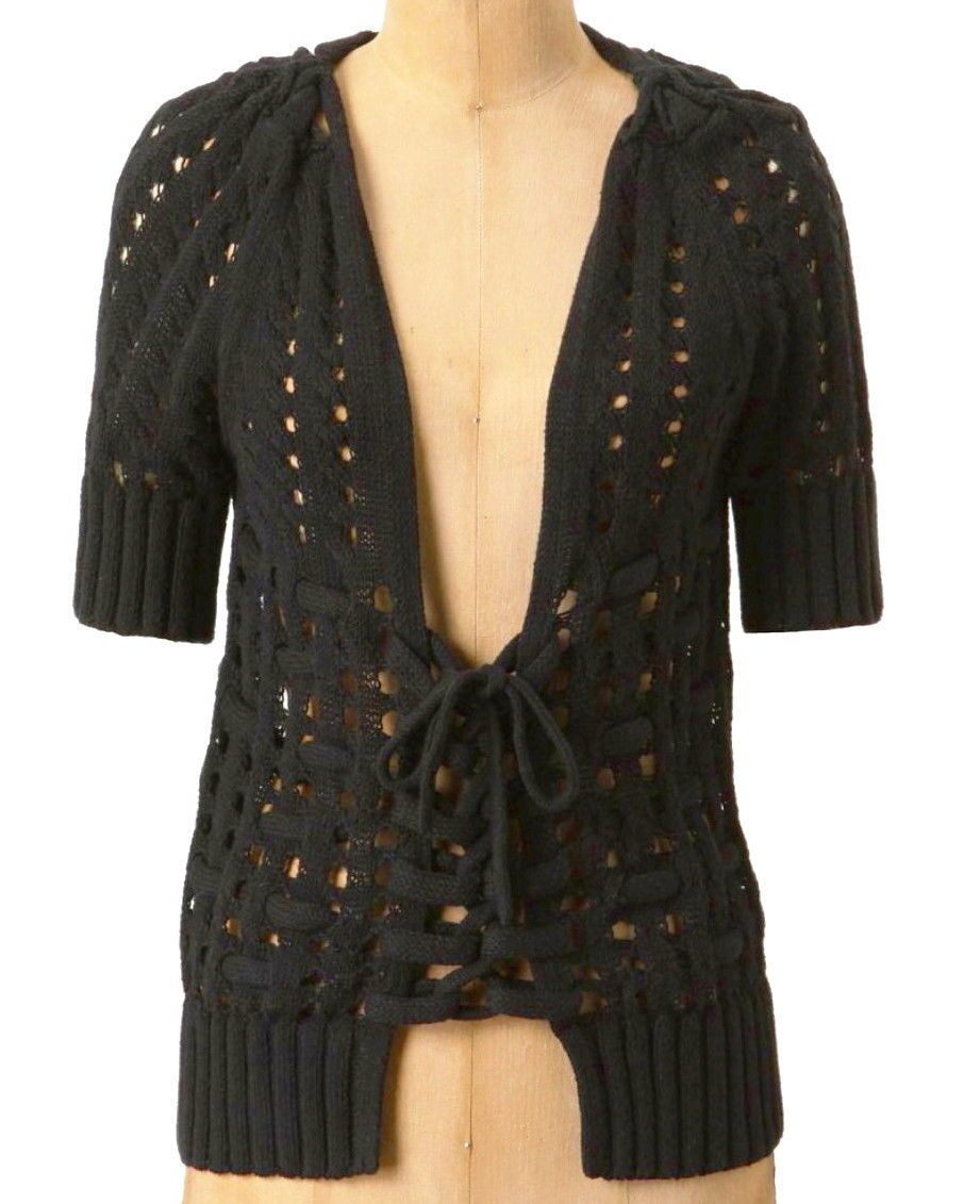 Anthropologie Corset Tied Cardigan Medium 6 and 48 similar items