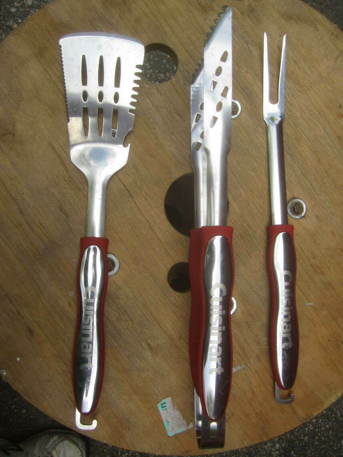 Cuisinart CGS-134 BBQ Grilling Tool Set , Red (3-Piece) - £23.98 GBP