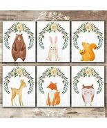 "Nice! Cute Animals Watercolor Set of 6- 8""x10"" Prints Wall Art Decor Pieces - $39.95"