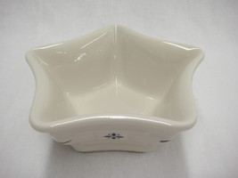 Longaberger Blue Woven Traditions Small Star Shaped Bowl Dish Votive Holder - $13.85