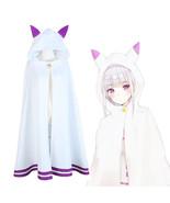 Re:Zero Kara Hajimeru Isekai Seikatsu Emilia Elf Cosplay Cat Ear Cape Cloak - $41.99