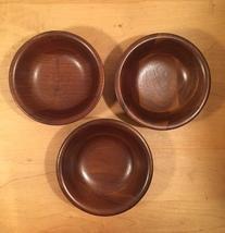 Set of 3 70s Ozark solid walnut salad bowls image 7
