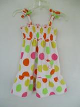 Ocean Pacific OP Size 24 Months Cotton Blend Polka Dot Terry Cloth Sundress - $20.80