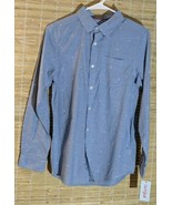 Cat & Jack Boys/Mens Long Sleeve Button Down Shirt Diamond Print Size XL... - $10.73