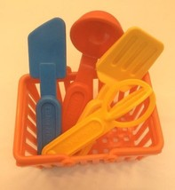 Fisher Price Fun With Food Kitchen Utensils Ladle Whisk Spatula Turner B... - $19.29