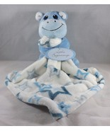 Little Beginnings Plush Security Blanket Snuggle Buddy - New - Hippo - $23.74