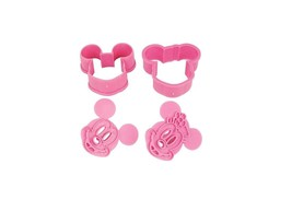 DISNEY MICKEY AND MINNIE MOUSE COOKIE CUTTER MOLD CUPCAKE BIRTHDAY PARTY... - $9.41