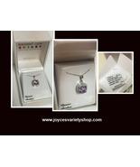 "Genuine Amethyst & Diamond Necklace 18"" Sterling Silver 925 - $37.99"