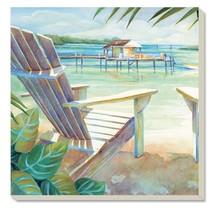 Counter Art 87013 Dock Adirondack Chair Beach Absorbent Stoneware Coaste... - $16.24