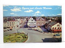 Gettysburg PA Aerial Lincoln Square Museum David Wills House Civil War Postcard - $5.93