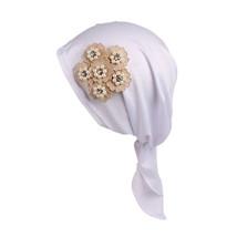 Women Muslim Stretch Turban Hat Chemo Cap Hair Loss Head Scarf Wrap Hiji... - ₨726.87 INR