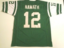 UNSIGNED CUSTOM Sewn Stitched Joe Namath Green Jersey - M, L, XL, 2XL - $33.99