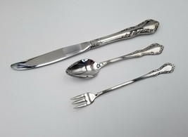 Knife + Citrus Spoon + Cocktail Fork ~ Mansion Hall Oneida Distinction Stainless - $19.79