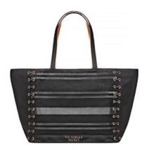 Victorias Secret Limited Edition XL Black Weekender Getaway Tote Bag MSRP $68 - $30.00
