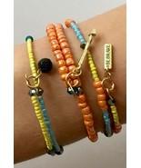 3 Bracelets Be Brave Swarovski Crystal Wrap Memory Wire Artisan Handmade... - £17.98 GBP
