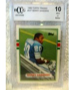 BARRY SANDERS 1989 TOPPS TRADED ROOKIE#257 BCCG10!!DETROIT LIONS RB RC G... - $49.49
