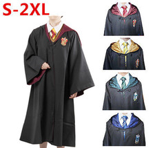 Adult Harry Potter Cosplay Robe Cloak Gryffindor/Slytherin/Hufflepuff Co... - $31.99
