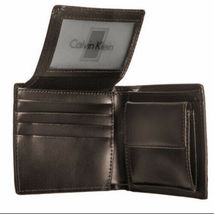 Calvin Klein Ck Men's Leather Wallet Id Billfold With Coin Case Brown 79600 image 6