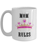 Mother's Day Mugs - Mom Rules - Best Mom Ever Coffee Cup - Worlds Best M... - £11.98 GBP