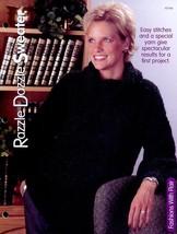 "Razzle Dazzle Sweater Sz Adult 34""- 46"" Knitting PATTERN/INSTRUCTIONS Leaflet - $1.77"