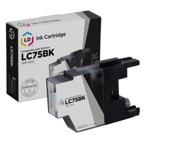 LD Brother Compatible LC75 High Yield Ink Cartridge Black LC75BK, New, S... - $9.50