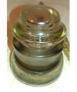 Antique Whitehall Tatum no. 1 clear Telephone Insulator - $100.00