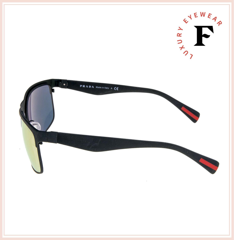 PRADA LINEA ROSSA RUBBERMAX 56P Matte Green Orange Mirrored Sunglasses PS56P