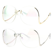 Womens Granny Swan Drop Temple Unique Rimless Oversized Glasses - $12.95