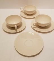 Lenox Sculpture Modernist Swirl Porcelain Dinnerware 3 Flat Cups & 4 Sau... - $9.70
