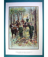 GERMAN ARMY 24th Regiment of Dragoons Body Guards - COLOR Litho Print - $14.85