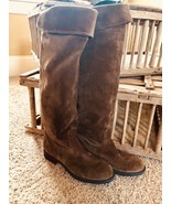 New Franco Sarta Brown Suede Leather Tall (Knee High) Boots Size 71/2 Me... - $49.27