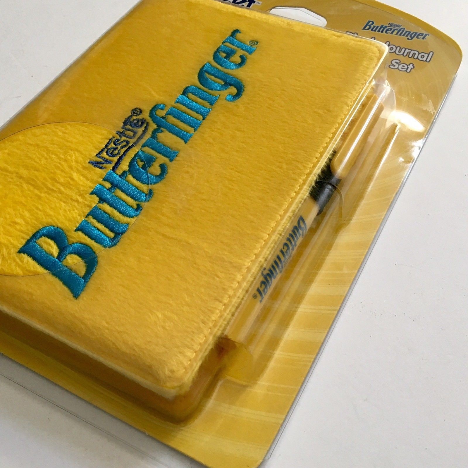 Butterfinger Candy Bar Plush Journal Pen Set Nestle Yellow Sweet Thing Thang NIP