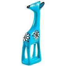 Tabaka Chigware Hand Carved Kisii Soapstone Light Blue Giraffe Figurine Kenya image 3