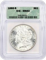 1886-S $1 ICG MS63 - Morgan Silver Dollar - $426.80